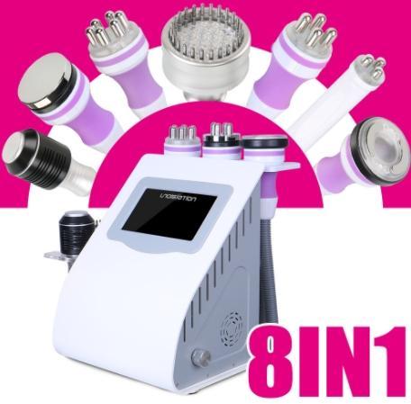 8 In 1 Ultrasonic Cavitation Vacuum RF Radio Frequency Body Slim Photon Bio  Machine